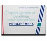 Pioglit MF 15 mg/500 mg (10 pills)